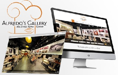 Sito internet e Virtual Tour 360 - Alfredo's Gallery Kuwait - Creative Web Studio - Web Agency