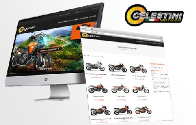 Sito e-commerce,  SEO e Google Adwords - Celestini Moto - Creative Web Studio - Web Agency